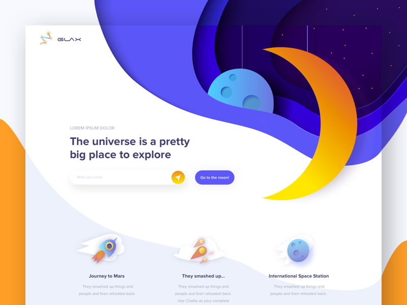 Glax - landing page
